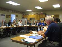 Picture of a WFLC meeting ar Red Lodge, Montana, fire hall in June 2007.